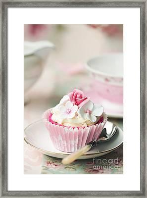 Flower Cupcake Framed Print