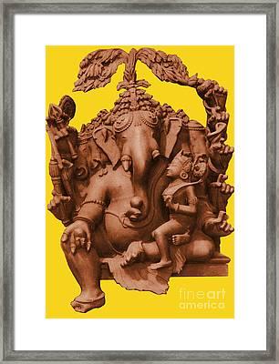 Ganesha, Hindu God Framed Print