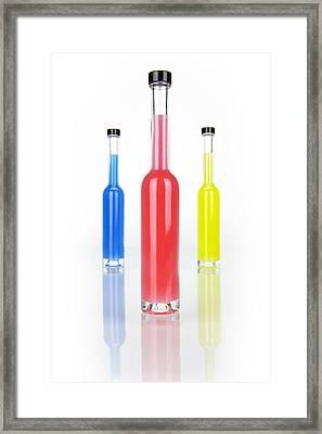 Glass Bottles Framed Print by Joana Kruse