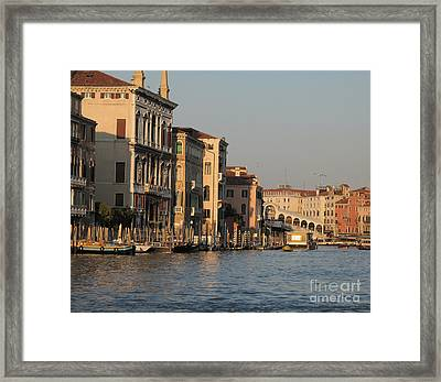 Grand Canal. Venice Framed Print by Bernard Jaubert