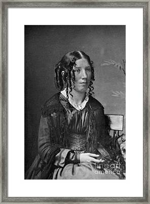 Harriet Beecher Stowe, American Framed Print by Photo Researchers