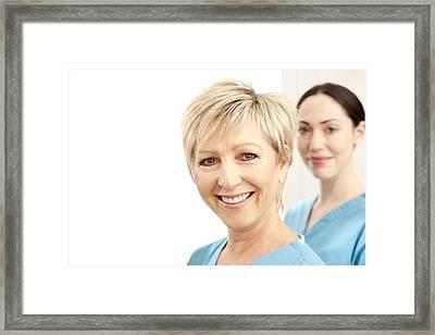 Hospital Staff Framed Print by