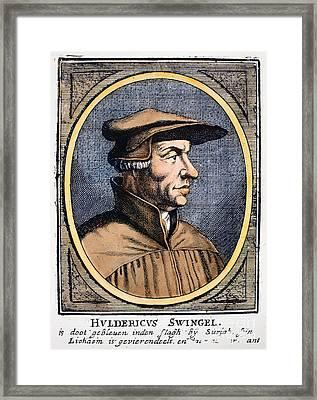 Huldreich Zwingli Framed Print by Granger