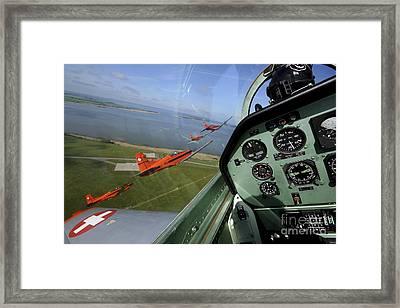 Inside The Pilatus Pc-7 Turboprop Framed Print by Daniel Karlsson