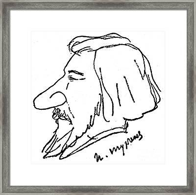 Ivan Turgenev (1818-1883) Framed Print by Granger