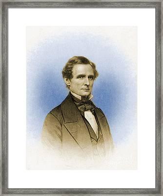Jefferson Davis, President Framed Print