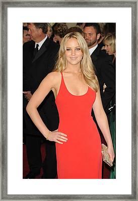 Jennifer Lawrence At Arrivals For The Framed Print by Everett