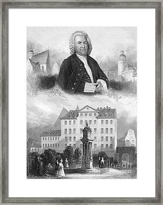 Johann Sebastian Bach Framed Print by Granger
