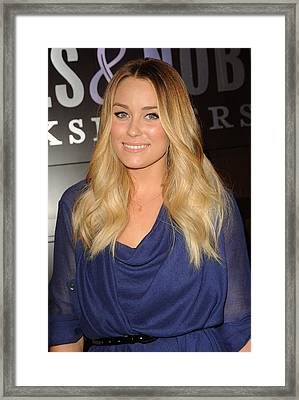 Lauren Conrad At In-store Appearance Framed Print by Everett
