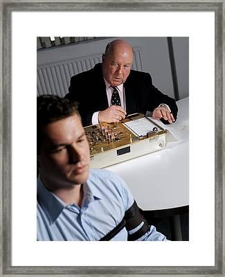 Lie Detector Test Framed Print by Tek Image