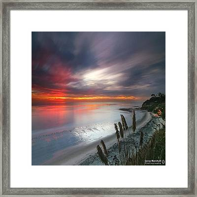 Long Exposure Sunset At A North San Framed Print by Larry Marshall