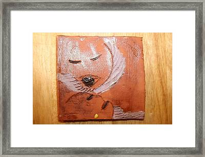 Mama - Tile Framed Print by Gloria Ssali
