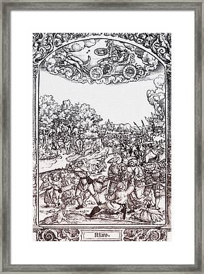 Mars, Roman God Of War Framed Print