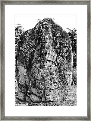 Mexico: Olmec Monument Framed Print by Granger