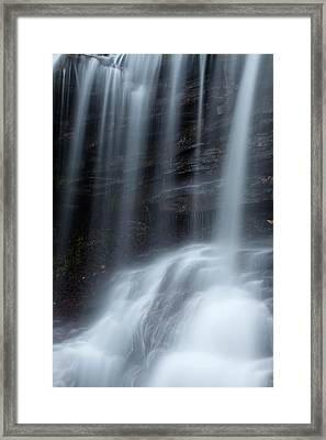 Misty Canyon Waterfall Framed Print by John Stephens