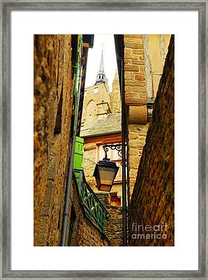 Mont Saint Michel Framed Print by Elena Elisseeva