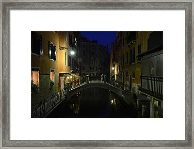 Morning In Venice Framed Print