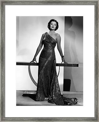 Myrna Loy, Mgm Portrait By Clarence Framed Print by Everett