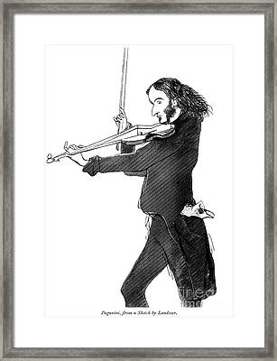 Nicolo Paganini (1782-1840) Framed Print by Granger
