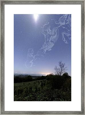 Night Sky Framed Print by Laurent Laveder