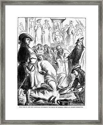 Persecution Of Waldenses Framed Print
