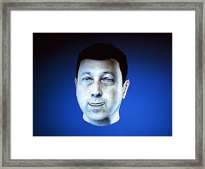 Personalised Virtual Avatar Framed Print by Volker Steger