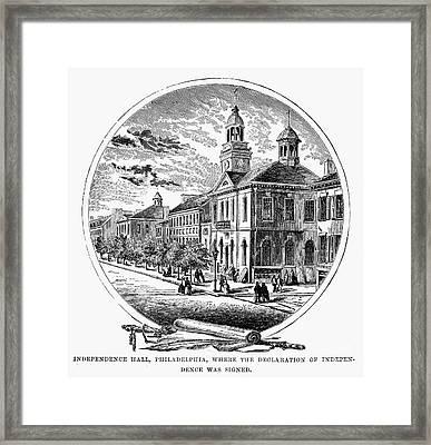 Philadelphia State House Framed Print by Granger