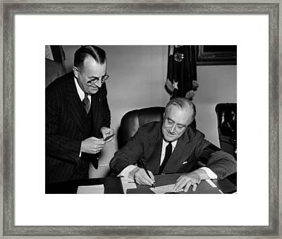 President Franklin D. Roosevelt Right Framed Print