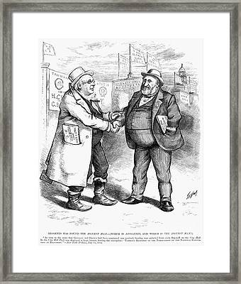 Presidential Campaign 1872 Framed Print by Granger