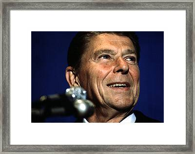 Ronald Reagan In The 1970s Framed Print by Everett