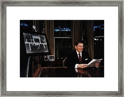 Ronald Reagan. President Reagan Framed Print