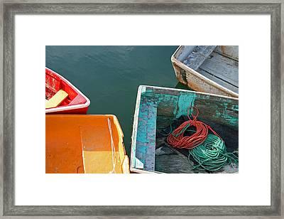 4 Row Boats Framed Print