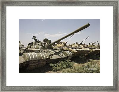 Russian T-54 And T-55 Main Battle Tanks Framed Print by Terry Moore