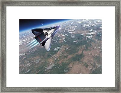 Saenger-horus Spaceplane, Artwork Framed Print by Detlev Van Ravenswaay