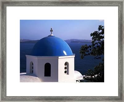 Framed Print featuring the photograph Santorini Greece by Colette V Hera  Guggenheim