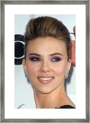 Scarlett Johansson At Arrivals Framed Print