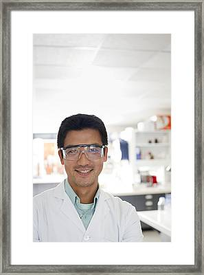 Scientist Framed Print by