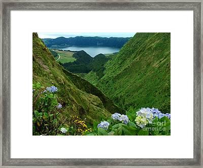 Sete Cidades - Azores Framed Print