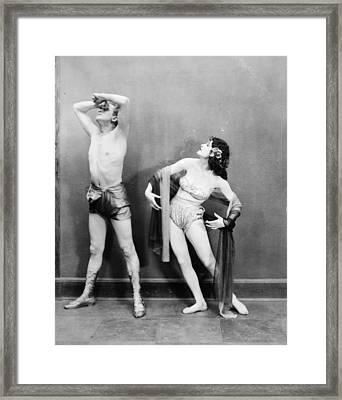 Silent Film Still: Dancing Framed Print by Granger