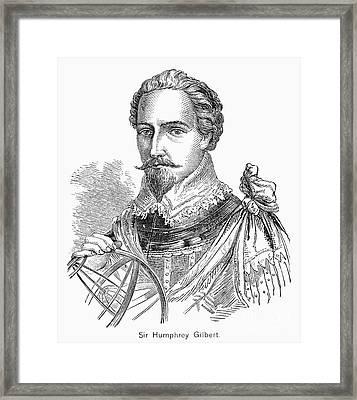 Sir Humphrey Gilbert Framed Print by Granger