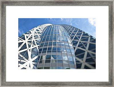 Skyscrapers In Tokyos Shinjuku Framed Print by Eddy Joaquim