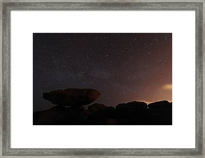 Stars In A Night Sky Framed Print by Laurent Laveder