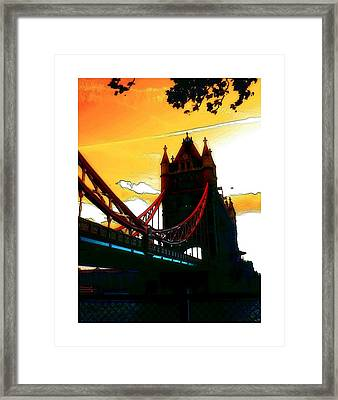 Sunset At Tower Brigde Framed Print by Steve K