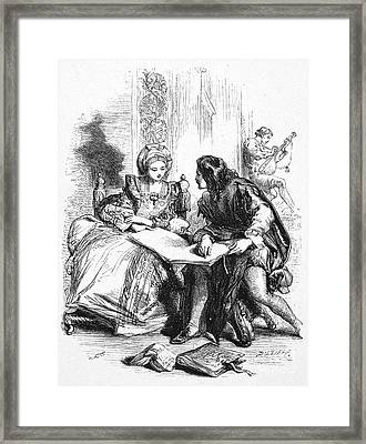 Taming Of The Shrew Framed Print
