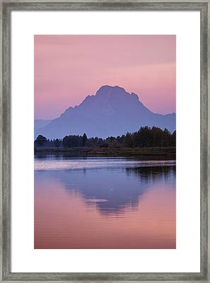 Teton Reflections Framed Print by Andrew Soundarajan