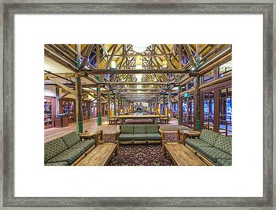 The Lobby Of The Paradise Inn In Mount Framed Print by Rob Tilley