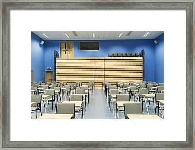 The Main Hall Of A Modern Secondary Framed Print by Iain  Sarjeant