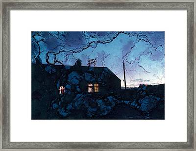 The Space Between Framed Print