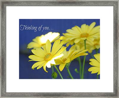 Thinking Of You... Framed Print by Cathie Tyler