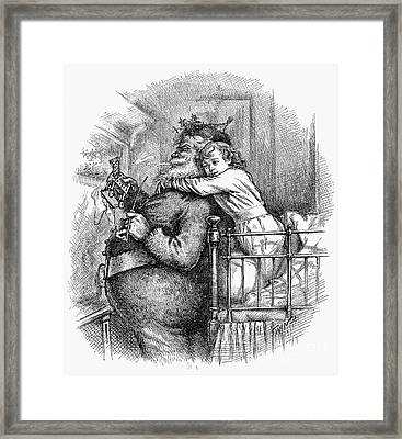 Thomas Nast: Santa Claus Framed Print by Granger